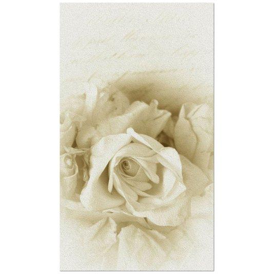Gravura para Quadros Floral Rosas Brancas 42x73cm