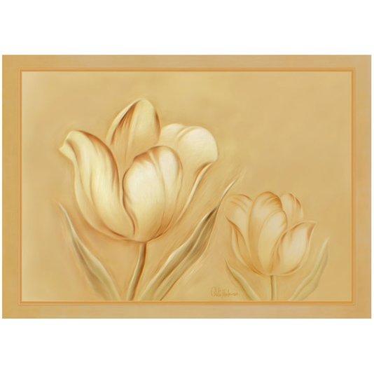 Gravura para Quadros Floral Tom Pastel 70x50cm