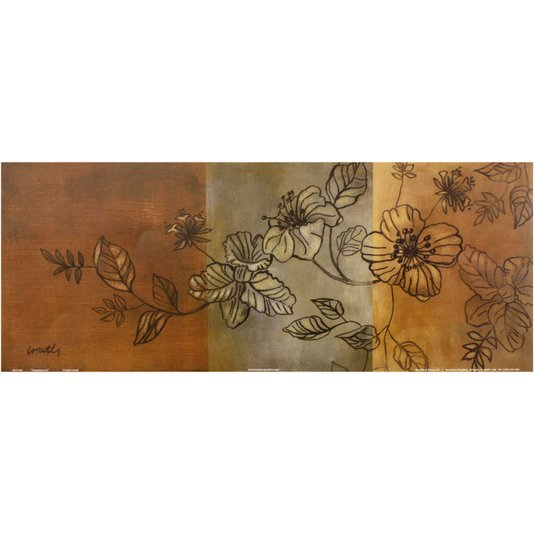Gravura para Quadros Floral Translucidez II - 50x20cm