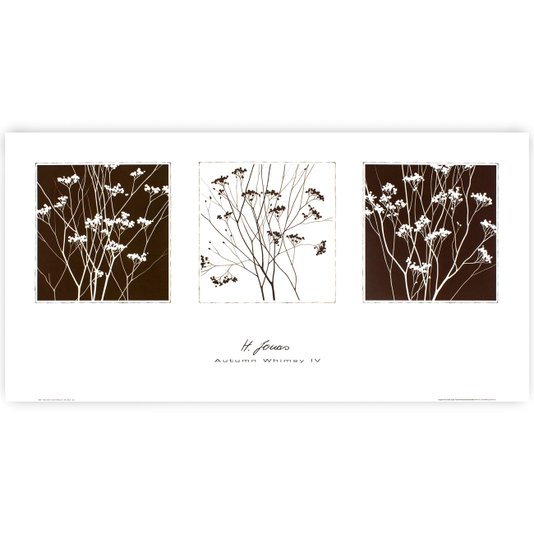 Gravura para Quadros Flores de Outono 80x40cm