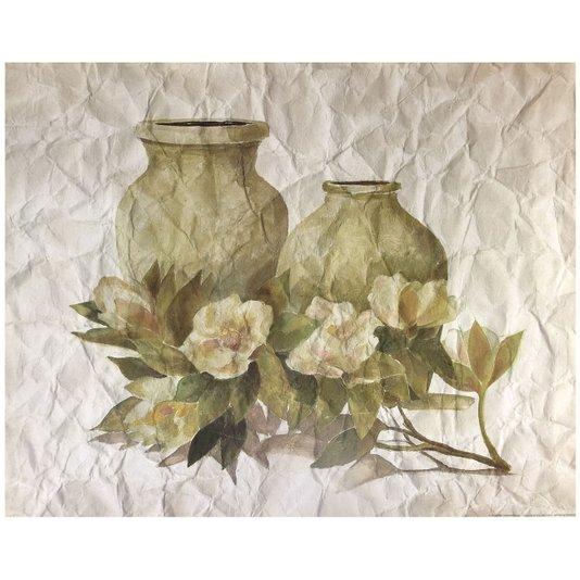 Gravura para Quadros Flores e Vasos 40x50cm