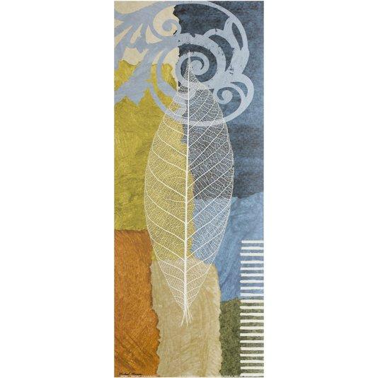 Gravura para Quadros Folha Azul II - 20x50cm