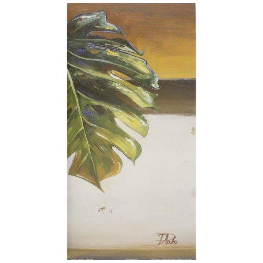Gravura para Quadros Folha Verde II - 30x60cm
