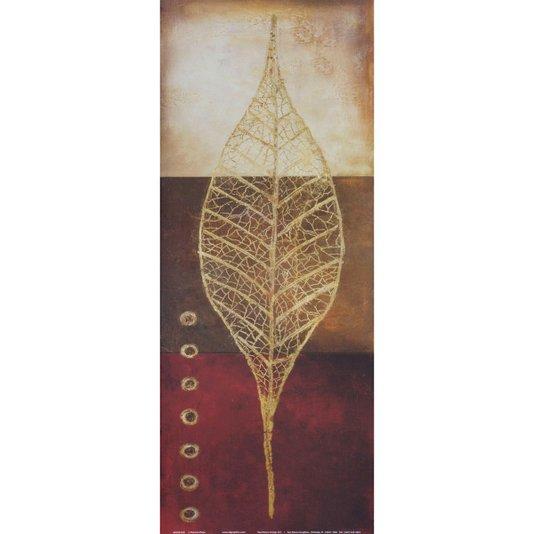 Gravura para Quadros Fóssil de Folha 20x50cm