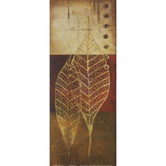 Gravura para Quadros Fóssil Folhas 20x50cm