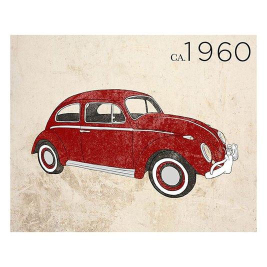 Gravura para Quadros Fusca Vermelho 1960 - 35x28cm