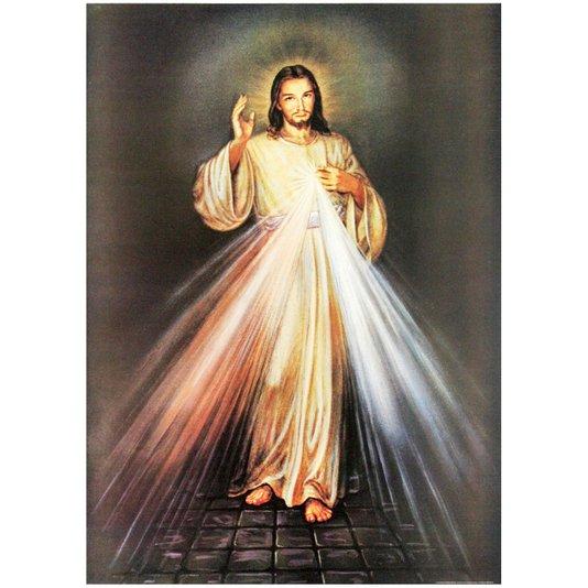 Gravura para Quadros Jesus Cristo Raio Religioso 50x70cm