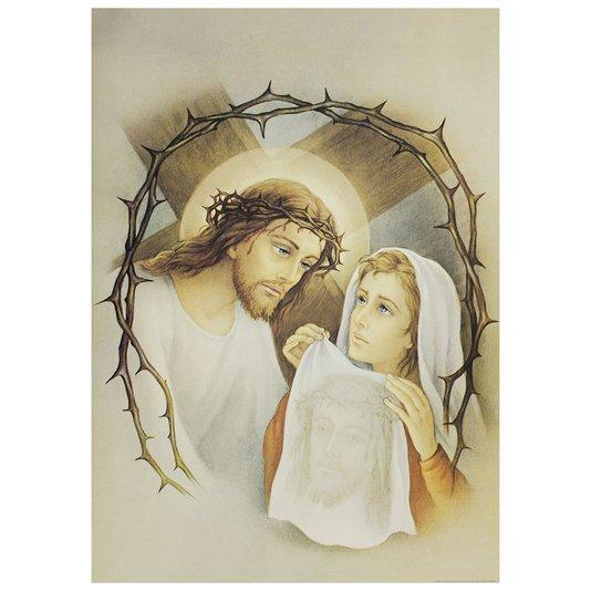 Gravura para Quadros Jesus e Verônica Santo Sudário 50x70cm
