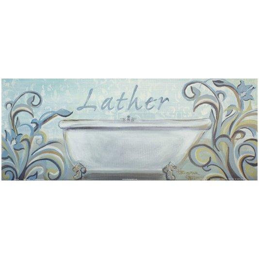 Gravura para Quadros Lavabo Banho de Espuma 50x20cm