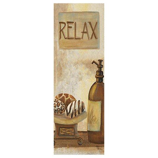 Gravura para Quadros Lavabo Relax 15x45cm