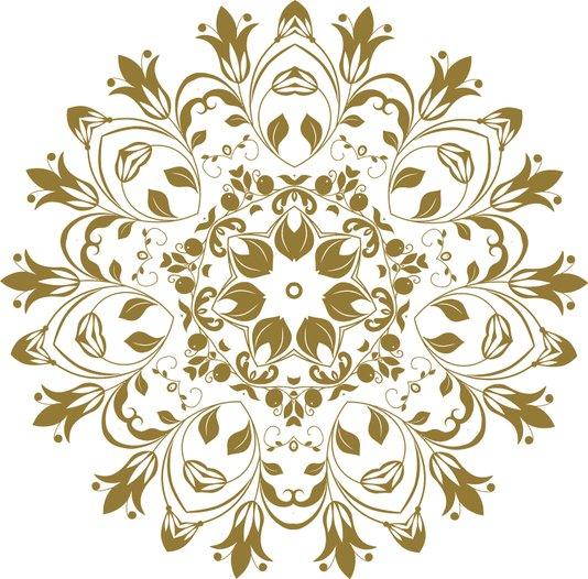 Gravura para Quadros Mandala Colorida I 40x40cm