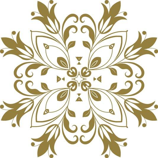 Gravura para Quadros Mandala Colorida II 40x40cm