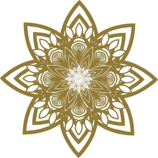 Gravura para Quadros Mandala Colorida Iii 40x40cm