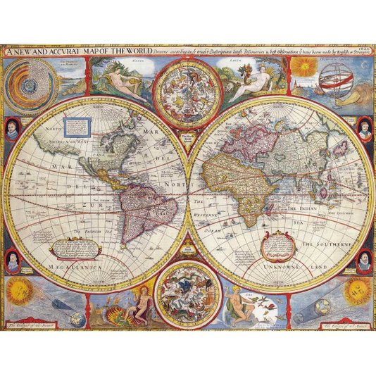 Gravura para Quadros Mapa Atlas Geográfico 90x70cm