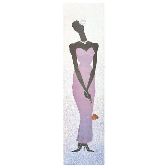 Gravura para Quadros Mulher Africana Amor 25x100cm