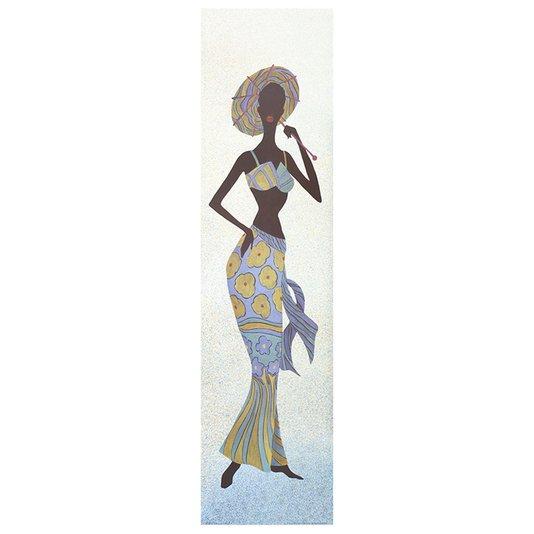 Gravura para Quadros Mulher Africana Praia 25x100cm