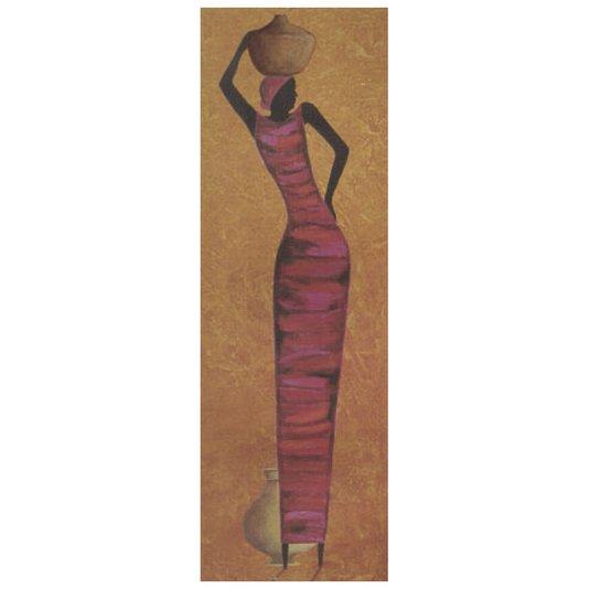 Gravura para Quadros Mulher com Vaso na Cabeça 30x90cm