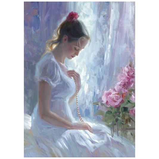 Gravura para Quadros Mulher de Vestido Branco 50x70cm