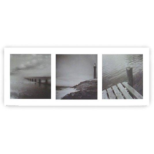 Gravura para Quadros Paisagem Lago Farol 50x20cm