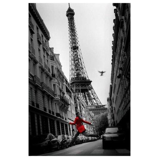 Gravura para Quadros Paris Torre Eiffel La Veste Rouge 60x90cm