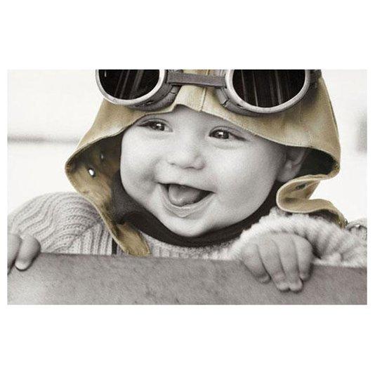 Gravura para Quadros Poster Bebê Sorrindo 90x60cm