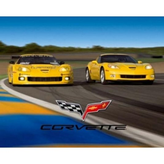 Gravura para Quadros Poster Carros Esportivos Corvette 50x40cm