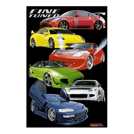 Gravura para Quadros Poster Carros Tunados Fine Tuned 60x90cm