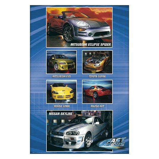 Gravura para Quadros Poster Carros Velozes e Furiosos  60x90cm