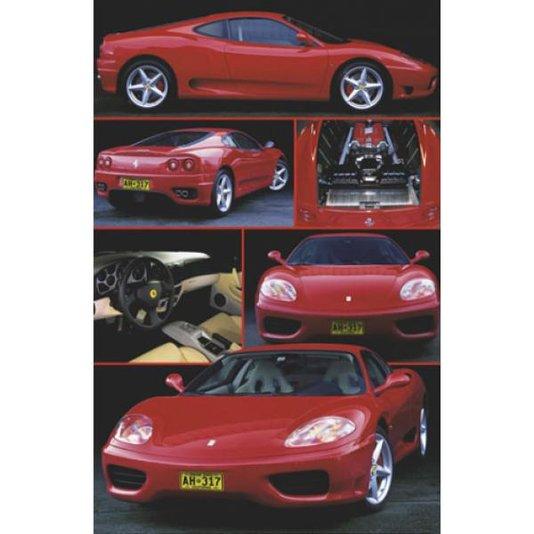 Gravura para Quadros Poster Ferrari Vermelha 60x90cm
