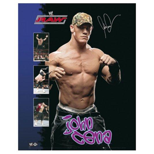 Gravura para Quadros Poster Lutador do Raw John Cena 40x50cm
