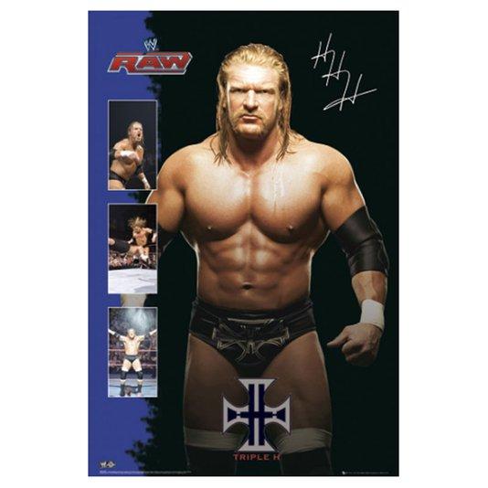 Gravura para Quadros Poster Lutador do Raw Triple H 60x90cm