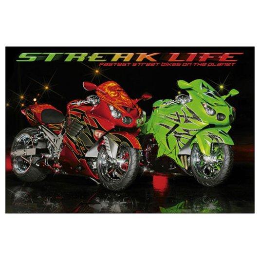 Gravura para Quadros Poster Motos Esportivas Streak Life 90x60cm