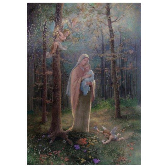 Gravura para Quadros Religioso Maria no Bosque 49x68cm
