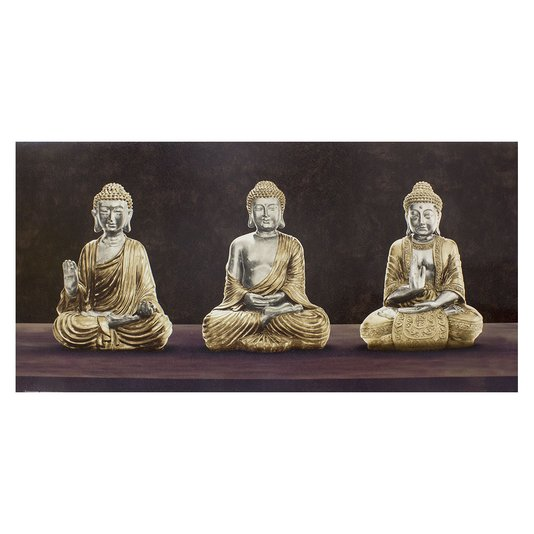 Gravura para Quadros Texturizada Budista 100x50cm
