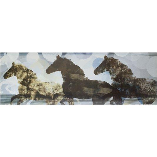 Gravura para Quadros Três Cavalos Espírito Animado 90x30cm