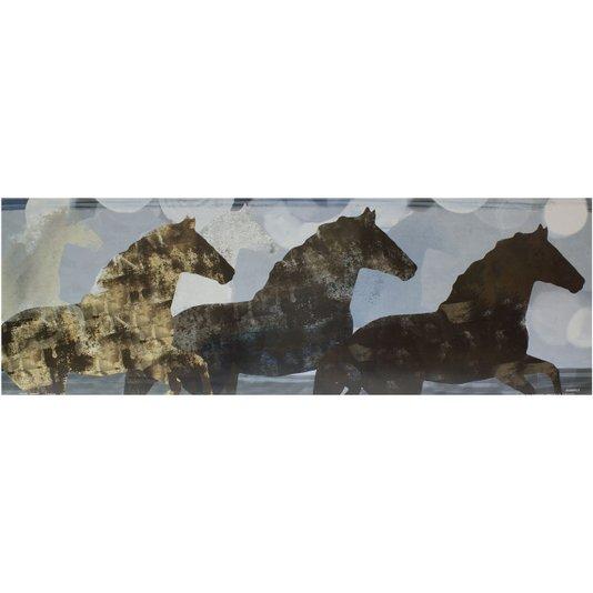 Gravura para Quadros Três Cavalos Espírito Animado II - 90x30cm