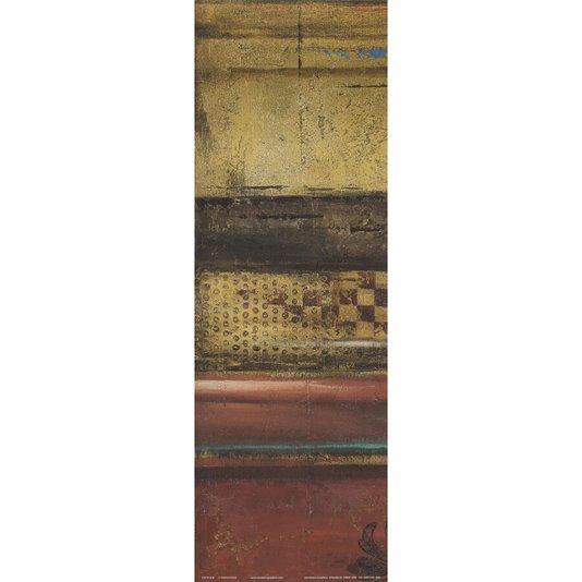 Gravura para Quadros Vermelho Eclético Abstrato 15x45cm