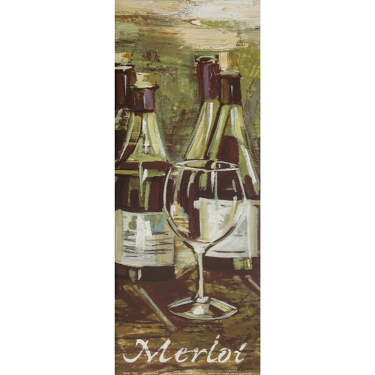 Gravura para Quadros Vinhos Uva Merlot 20x50cm