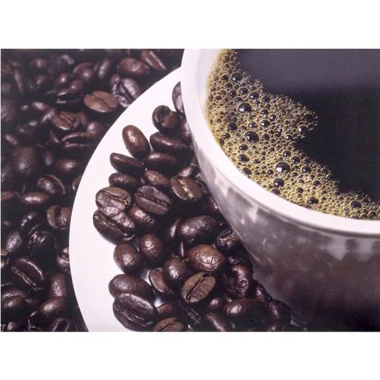 Gravura para Quadros Xícará de Café com Grãos 40x30cm