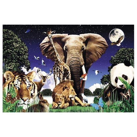Gravura Poster para Quadros Animais Selvagens 90x60cm