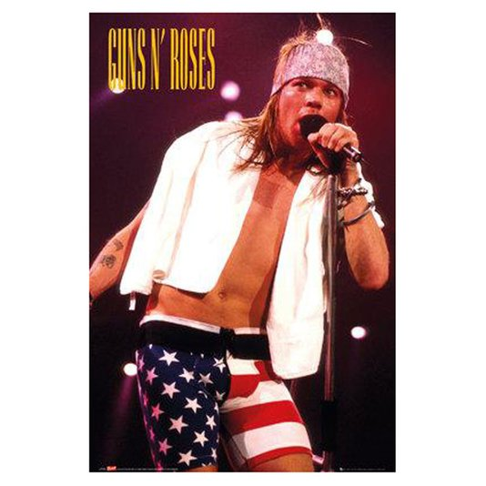 Gravura Poster para Quadros Axl Rose Vocalista da Banda  Guns N Roses 60x90cm