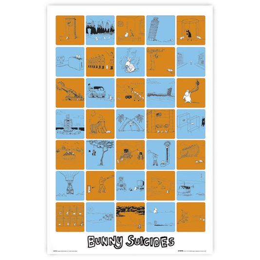 Gravura Poster para Quadros Bunny Suicides 60x90cm