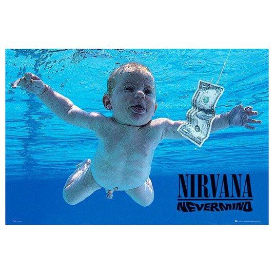 Gravura Poster para Quadros Capa Álbum Nevermind da Banda Nirvana 90x60cm