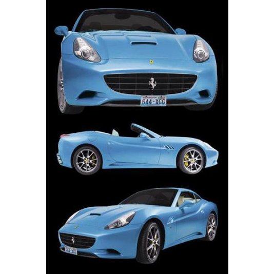 Gravura Poster para Quadros Ferrari Azul 60x90cm
