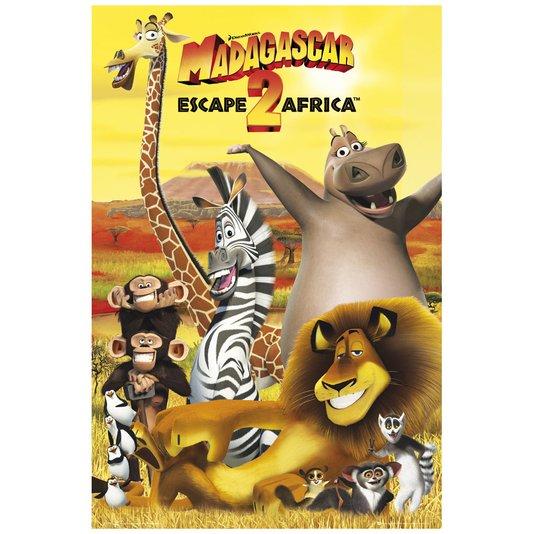 Gravura Poster para Quadros Filme Infantil Madagascar 60x90cm