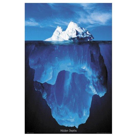 Gravura Poster para Quadros Iceberg 60x90cm
