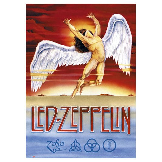 Gravura Poster para Quadros Led Zeppelin Swan Song 60x90cm