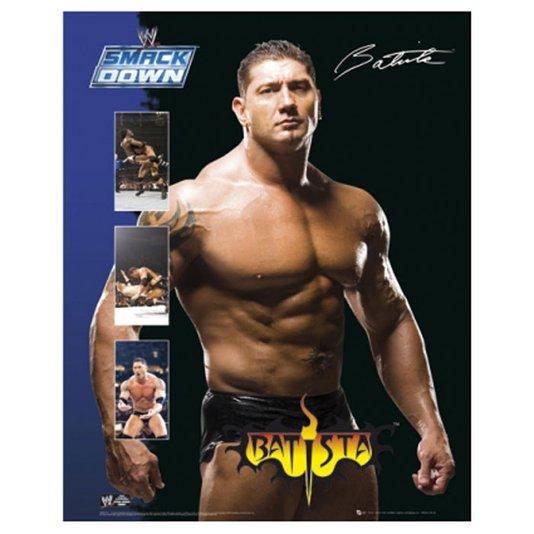Gravura Poster para Quadros Lutador da Wwe Batista 40x50cm