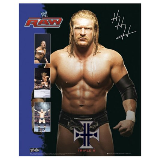 Gravura Poster para Quadros Lutador do RAW Triple H 40x50cm