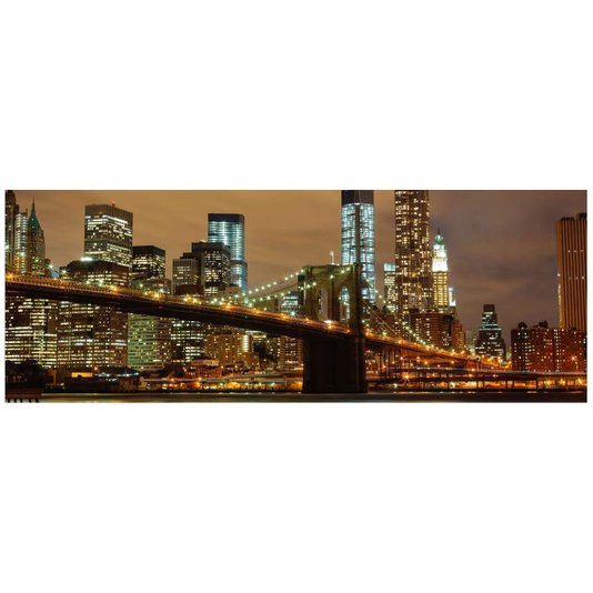 Gravura Imagem para Quadros Noite Ponte do Brooklyn 130x43cm